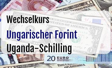 Ungarischer Forint in Uganda-Schilling