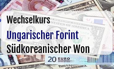 Ungarischer Forint in Südkoreanischer Won
