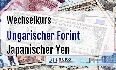 Ungarischer Forint in Japanischer Yen