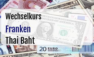 Schweizer Franken in Thai Baht