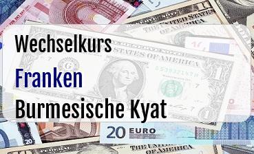 Schweizer Franken in Burmesische Kyat