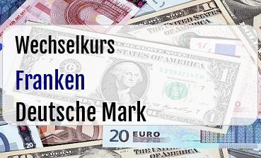 Schweizer Franken in Deutsche Mark