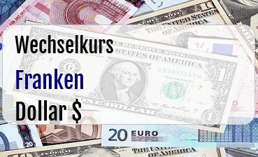 Schweizer Franken in US Dollar