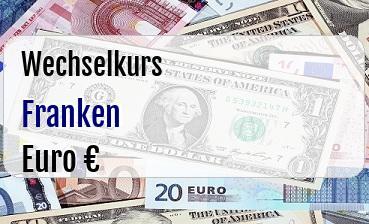 Schweizer Franken in Euro