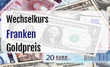 Schweizer Franken in Goldpreis