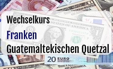 Schweizer Franken in Guatemaltekischen Quetzal