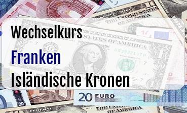 Schweizer Franken in Isländische Kronen