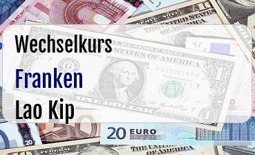Schweizer Franken in Lao Kip