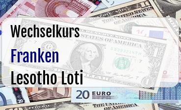 Schweizer Franken in Lesotho Loti