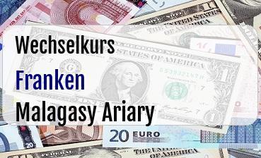 Schweizer Franken in Malagasy Ariary
