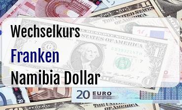 Schweizer Franken in Namibia Dollar