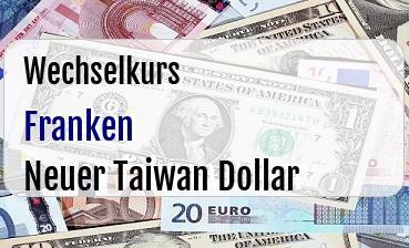 Schweizer Franken in Neuer Taiwan Dollar