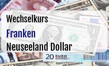 Schweizer Franken in Neuseeland Dollar