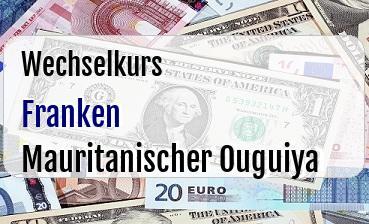 Schweizer Franken in Mauritanischer Ouguiya