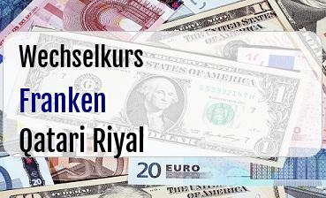 Schweizer Franken in Qatari Riyal