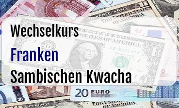 Schweizer Franken in Sambischen Kwacha