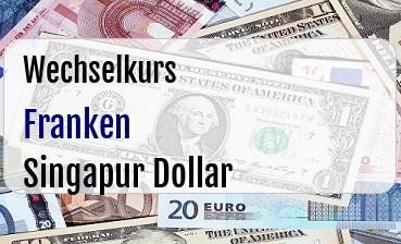 Schweizer Franken in Singapur Dollar