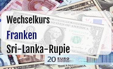 Schweizer Franken in Sri-Lanka-Rupie