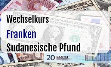 Schweizer Franken in Sudanesische Pfund