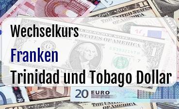 Schweizer Franken in Trinidad und Tobago Dollar