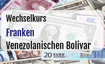 Schweizer Franken in Venezolanischen Bolivar