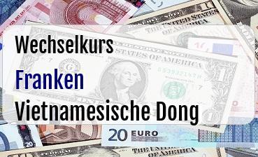 Schweizer Franken in Vietnamesische Dong