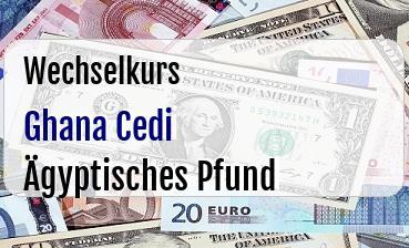 Ghana Cedi in Ägyptisches Pfund