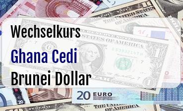 Ghana Cedi in Brunei Dollar