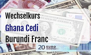 Ghana Cedi in Burundi Franc