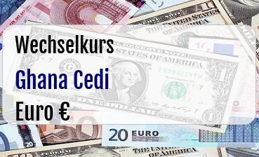 Ghana Cedi in Euro