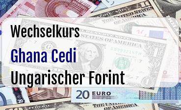 Ghana Cedi in Ungarischer Forint