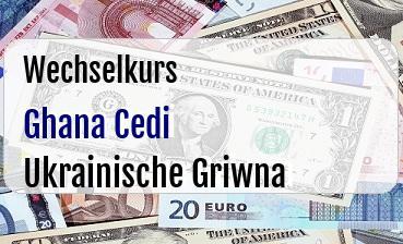Ghana Cedi in Ukrainische Griwna