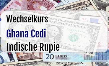 Ghana Cedi in Indische Rupie