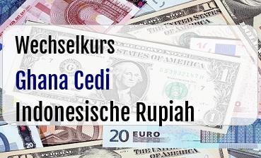 Ghana Cedi in Indonesische Rupiah