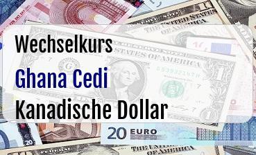Ghana Cedi in Kanadische Dollar