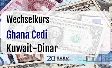 Ghana Cedi in Kuwait-Dinar