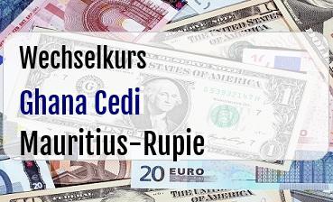Ghana Cedi in Mauritius-Rupie
