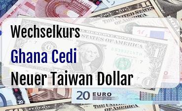 Ghana Cedi in Neuer Taiwan Dollar