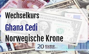 Ghana Cedi in Norwegische Krone