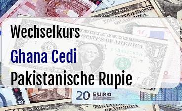 Ghana Cedi in Pakistanische Rupie