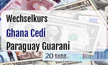 Ghana Cedi in Paraguay Guarani