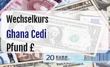 Ghana Cedi in Britische Pfund