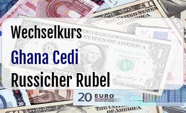 Ghana Cedi in Russicher Rubel