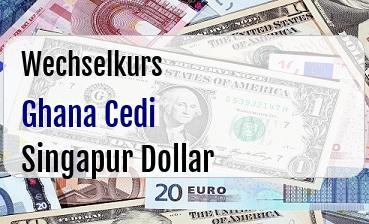 Ghana Cedi in Singapur Dollar