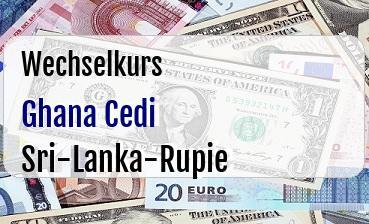 Ghana Cedi in Sri-Lanka-Rupie