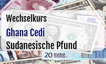 Ghana Cedi in Sudanesische Pfund