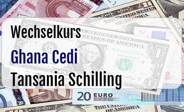 Ghana Cedi in Tansania Schilling