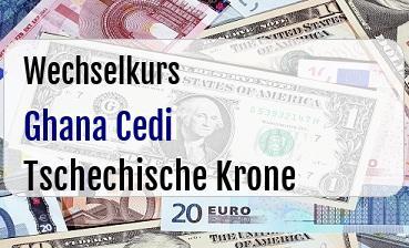 Ghana Cedi in Tschechische Krone