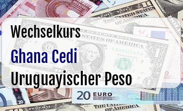 Ghana Cedi in Uruguayischer Peso