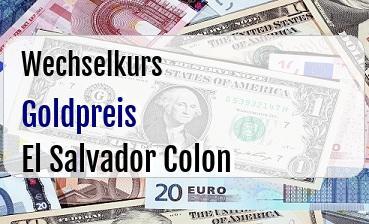 Goldpreis in El Salvador Colon